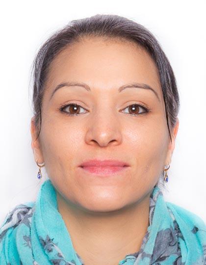 Passfoto einer jungen Frau.